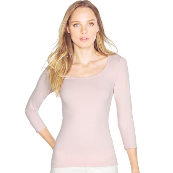 White House Black Market Tops - WHBM Blush Pink 3/4 Sleeve Seamless Tee- Size M